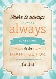 Something to be thankful